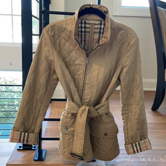 BURBERRY - Diamond Quilted Nylon Field Jacket - S